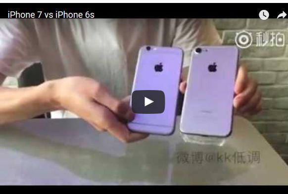 video soll iphone 7 im vergleich zum iphone 6s zeigen. Black Bedroom Furniture Sets. Home Design Ideas
