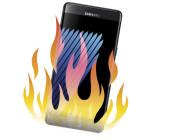 Galaxy Note 7 in Flammen