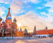 View of Kremlin and Cathedral of St. Basil at the Red Square