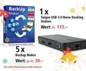 Am 3. Dezember USB 3.0 Reise Docking Station und BackUp Maker gewinnen