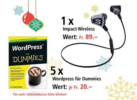 Am 12 Dezember In Ear Kopfhorer Und Wordpress Fur Dummies Gewinnen