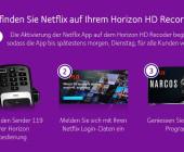 Netflix App ab sofort auf dem Horizon HD Recorder