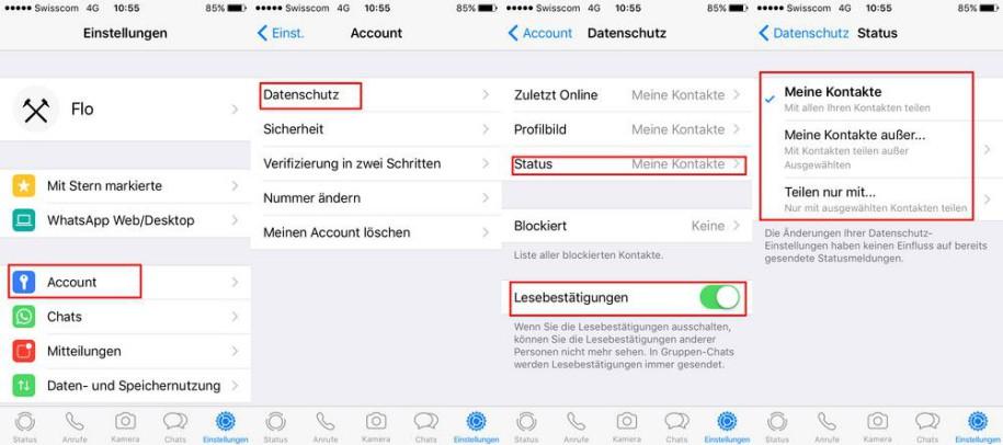 Status Tracking Bei Whatsapp Abschalten Onlinepcch
