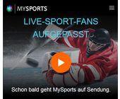 MySports bringt die erste Eishockey-Saison kostenlos nach Hause