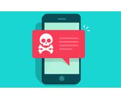 Smartphone mit Malware