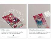 Falschgeld erkennen mit der Schweizer Nationalbank-App