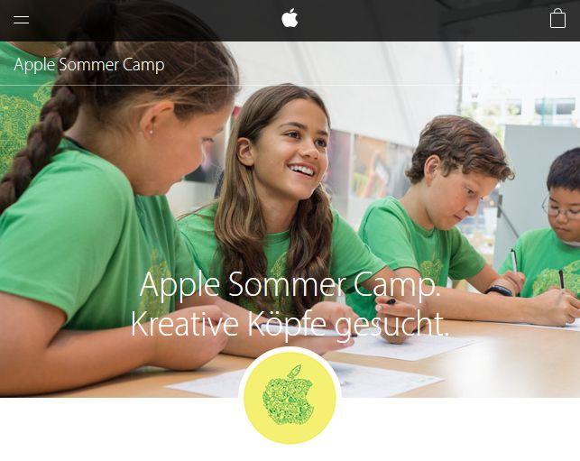 Schicken Sie Ihre Kinder ins Sommer Camp bei Apple