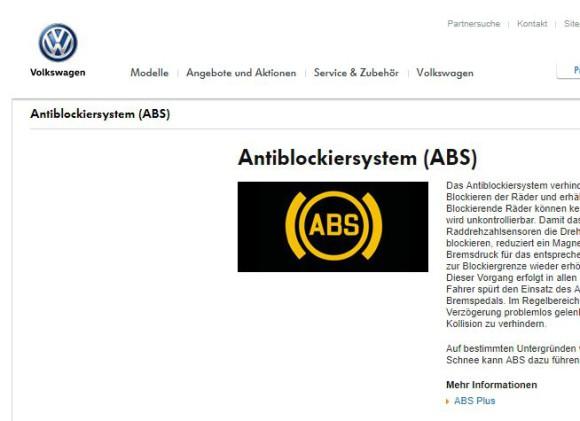 Software-Update für ABS - VW ruft Autos zurück - onlinepc ch