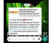 Auch Coop verschenkt keine Gutscheine im Wert von 350 Franken