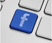 Facebook auf der Tastatur