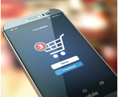 Smartphone mit Mobile Checkout