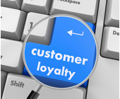 Tastatur Lupe Button customer loyalty