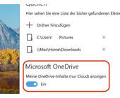 Windows 10: Foto-Anzeige aus der Cloud ausschalten