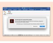 PDFs nicht automatisch an Adobe senden