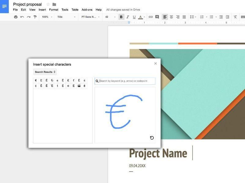 Google Docs: Symbole zeichnen und einfügen - onlinepc.ch