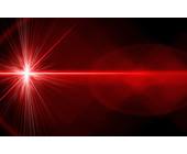 Roter Laser-Strahl