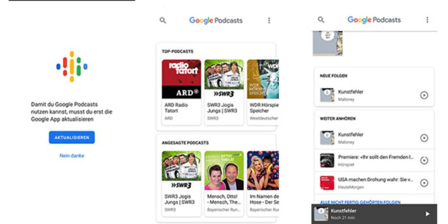 Google hat Podcast-App lanciert - onlinepc ch