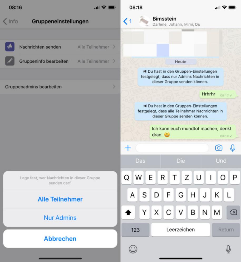 Whatsapp kontakte unsichtbar machen