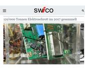 129'000 Tonnen Schweizer Elektroschrott im 2017 gesammelt