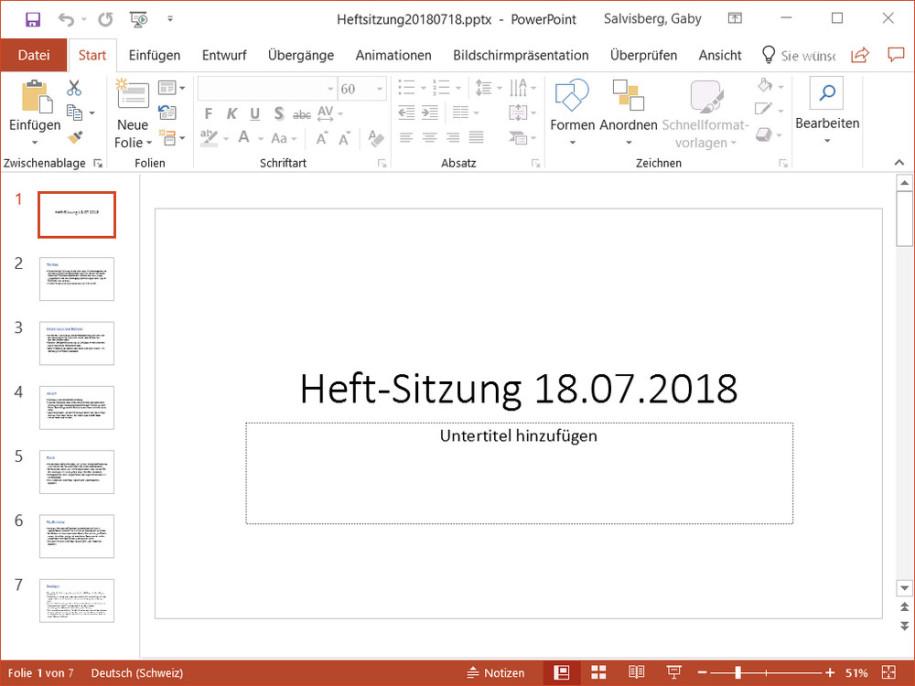 PowerPoint/Impress: Vorlage nachträglich ändern - onlinepc.ch