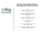 Avaloq als Gesamtsieger bei den IDC FinTech Rankings Real Results Awards 2018 ausgezeichnet