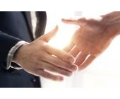 Partnerschaft-Handshake
